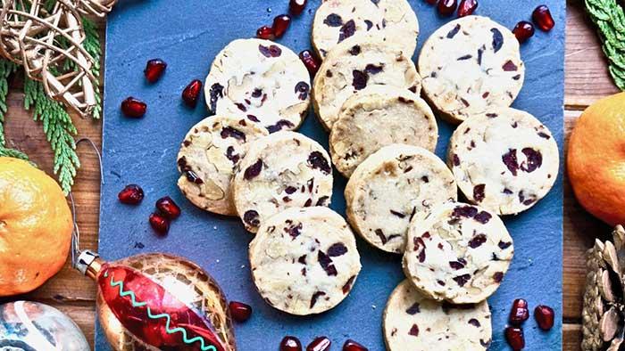 Cranberry Walnut Icebox Cookies