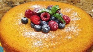 orange-honey-cornmeal-cake-with-berries